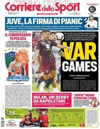 capa Corriere dello Sport de 22 agosto 2018