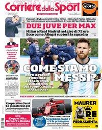 capa Corriere dello Sport de 23 março 2018