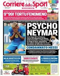 capa Corriere dello Sport de 23 junho 2018