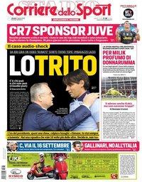 capa Corriere dello Sport de 23 agosto 2018