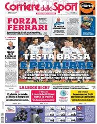 capa Corriere dello Sport de 24 março 2018