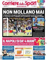 capa Corriere dello Sport de 24 junho 2018