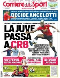 capa Corriere dello Sport de 24 julho 2018