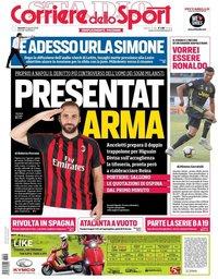 capa Corriere dello Sport de 24 agosto 2018