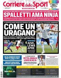 capa Corriere dello Sport de 25 junho 2018