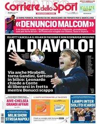capa Corriere dello Sport de 25 julho 2018