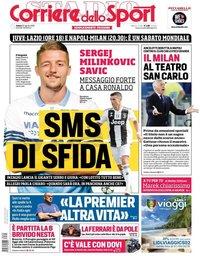 capa Corriere dello Sport de 25 agosto 2018