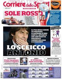 capa Corriere dello Sport de 26 março 2018