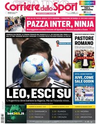 capa Corriere dello Sport de 26 junho 2018