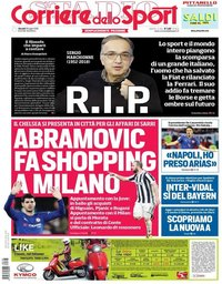 capa Corriere dello Sport de 26 julho 2018