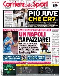 capa Corriere dello Sport de 26 agosto 2018