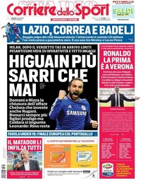 capa Corriere dello Sport de 27 julho 2018