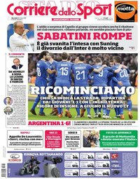 capa Corriere dello Sport de 28 março 2018