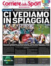 capa Corriere dello Sport de 28 junho 2018
