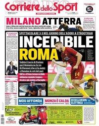 capa Corriere dello Sport de 28 agosto 2018