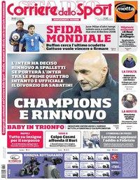 capa Corriere dello Sport de 29 março 2018
