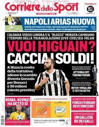 capa Corriere dello Sport de 29 julho 2018