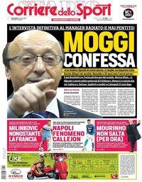 capa Corriere dello Sport de 29 agosto 2018