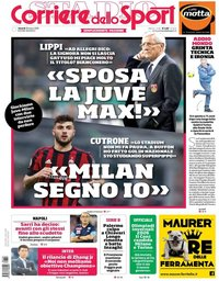 capa Corriere dello Sport de 30 março 2018