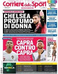capa Corriere dello Sport de 30 junho 2018