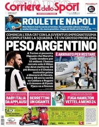 capa Corriere dello Sport de 30 julho 2018