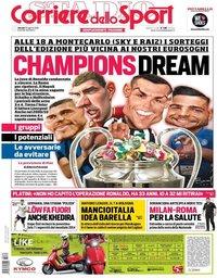 capa Corriere dello Sport de 30 agosto 2018