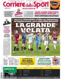 capa Corriere dello Sport de 31 março 2018