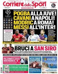 capa Corriere dello Sport de 31 agosto 2018