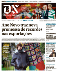 capa Diário de Notícias de 1 janeiro 2018