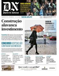 capa Diário de Notícias de 1 março 2018