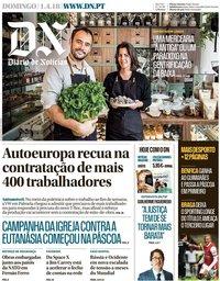 capa Diário de Notícias de 1 abril 2018