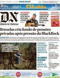 capa Diário de Notícias de 1 junho 2018