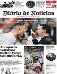 capa Diário de Notícias de 1 julho 2018