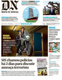 capa Diário de Notícias de 1 setembro 2017