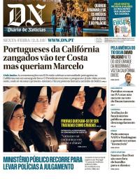 capa Diário de Notícias de 2 março 2018