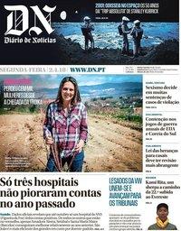 capa Diário de Notícias de 2 abril 2018