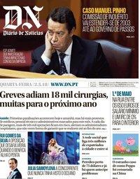 capa Diário de Notícias de 2 maio 2018
