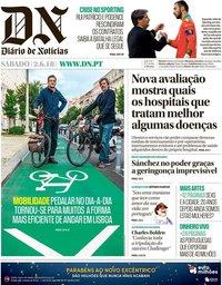 capa Diário de Notícias de 2 junho 2018