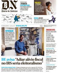 capa Diário de Notícias de 2 setembro 2017