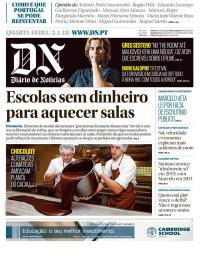 capa Diário de Notícias de 3 janeiro 2018