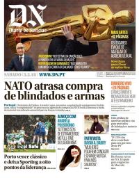 capa Diário de Notícias de 3 março 2018