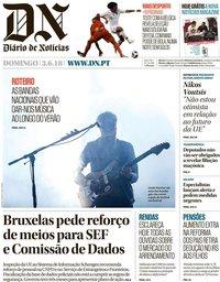 capa Diário de Notícias de 3 junho 2018