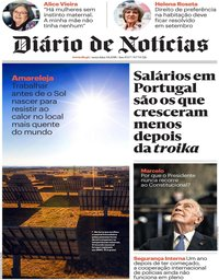 capa Diário de Notícias de 3 agosto 2018
