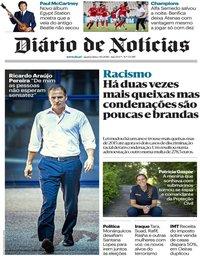 capa Diário de Notícias de 3 outubro 2018