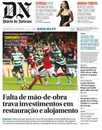 capa Diário de Notícias de 4 janeiro 2018