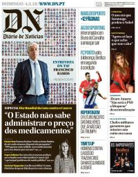 capa Diário de Notícias de 4 fevereiro 2018