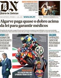 capa Diário de Notícias de 4 junho 2018