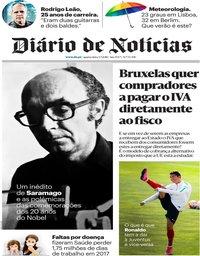 capa Diário de Notícias de 4 julho 2018