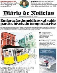 capa Diário de Notícias de 4 agosto 2018