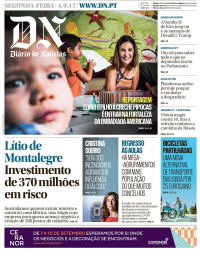 capa Diário de Notícias de 4 setembro 2017